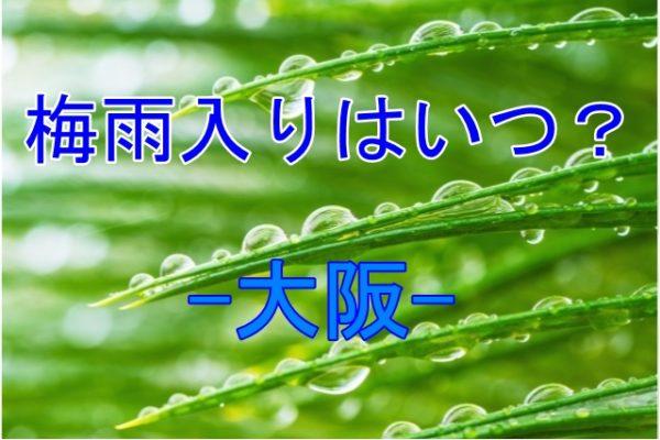 梅雨入りはいつ?2019年大阪の目安!