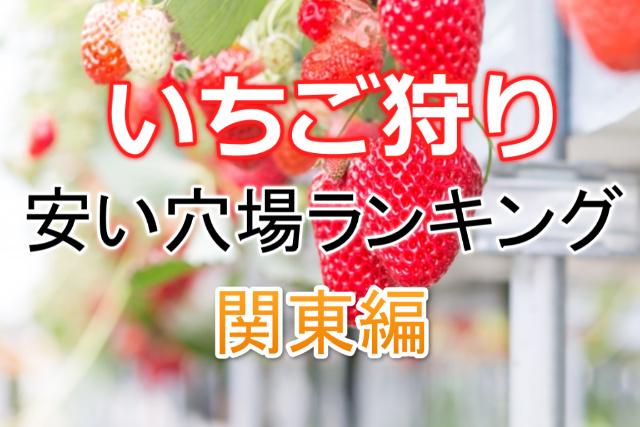 いちご狩り(関東版)安い場所2020!食べ放題ランキング!