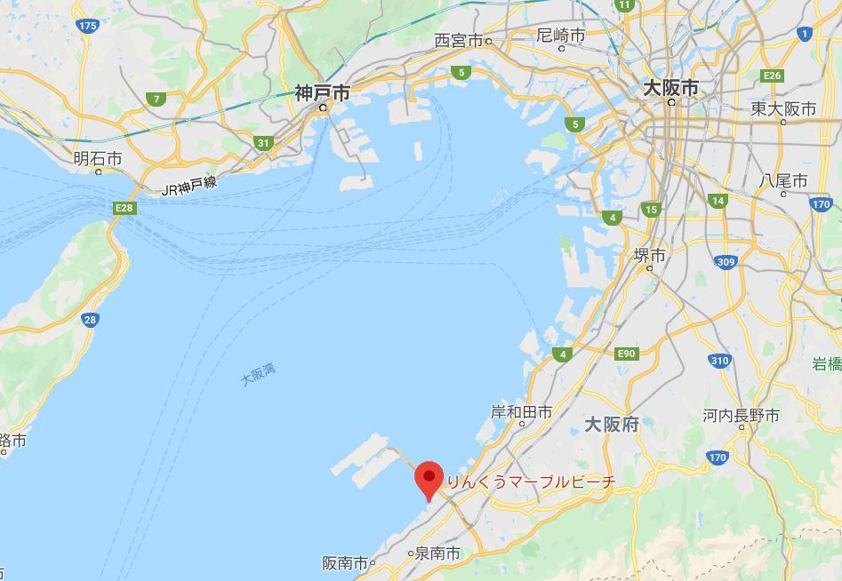 大阪花火大会りんくうマップ